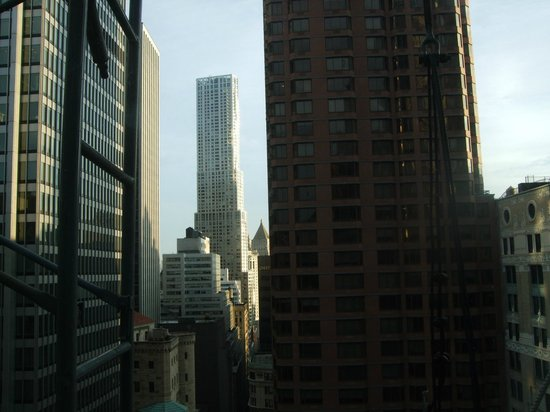 Club Quarters Hotel, Wall Street:                   View out of the window from our bed
