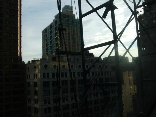 Club Quarters Hotel, Wall Street:                   Another view from the window