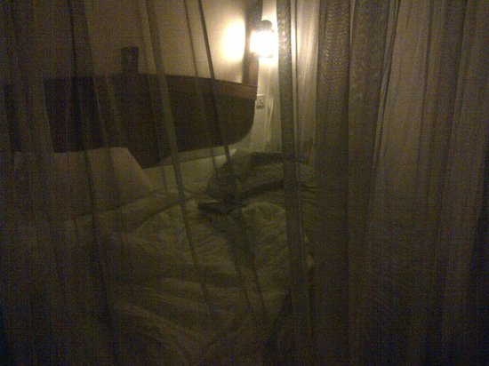 Voyager Beach Resort:                   with mosquito net down