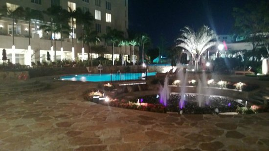 Real InterContinental Costa Rica at Multiplaza Mall:                   InterContinental Pool at night