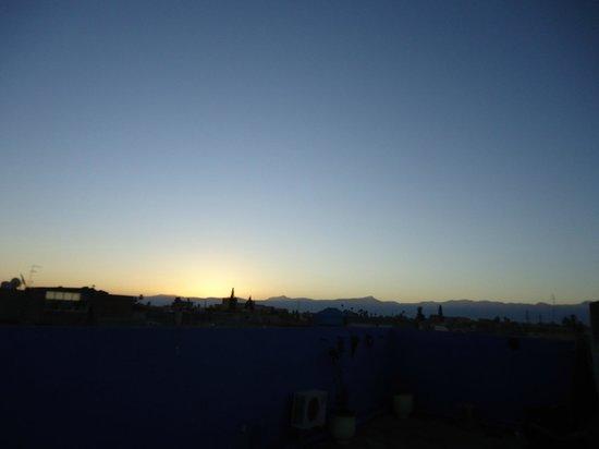 Hotel El Kennaria:                   Sunrise at the terrace