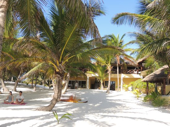 Cabanas Los Arrecifes: vista dalla spiaggia