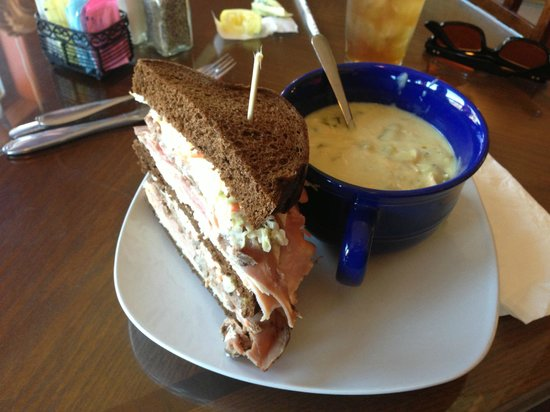 Blue Goose Cafe:                   Soup and Sandwich