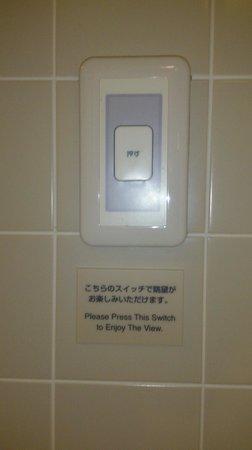 Mitsui Garden Hotel Ginza Premier: スモークガラスボタン