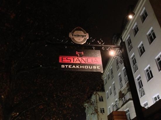 Estancia Steakhouse:                   outside