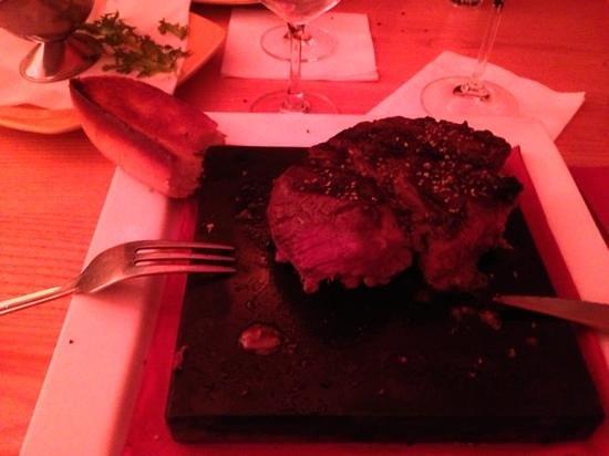 Estancia Steakhouse:                   the beef