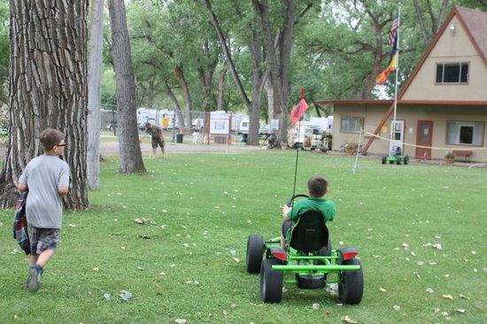 Miles City KOA:                   go-carts