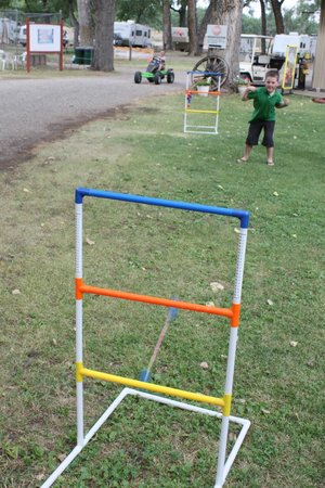 Miles City KOA:                   ladder ball out front