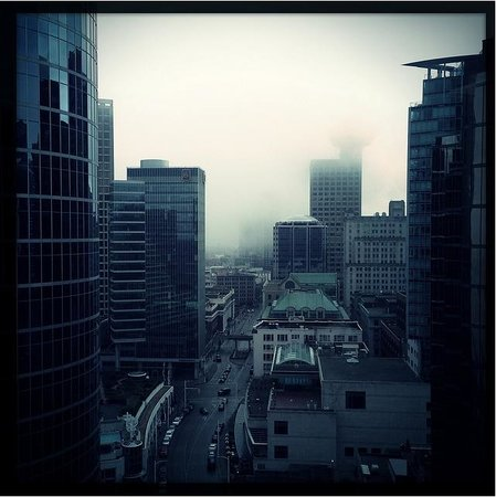 Fairmont Pacific Rim:                   View from Room 2217