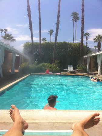 La Dolce Vita Resort & Spa:                   lounging in the misters