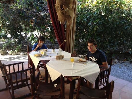 Restaurante Celajes at Hotel Belmar:                   My son and Friend