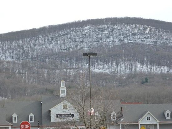 Woodbury Common Premium Outlets: The snowy hill behind the mall