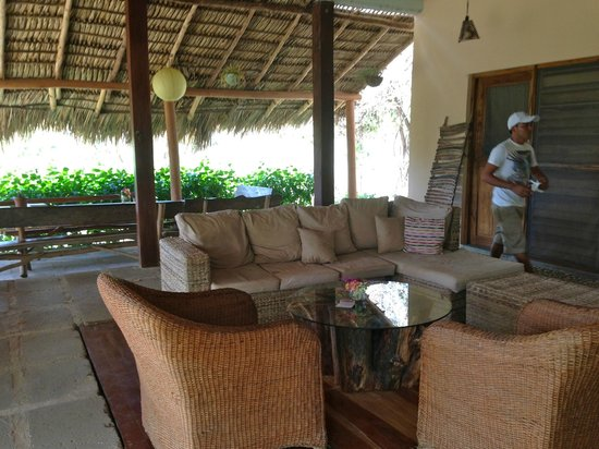 The Maderas Village:                   Living room area in the main lodge near kitchen and dining