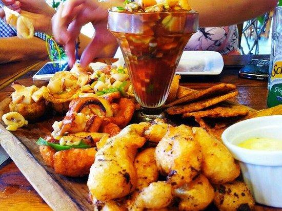 Pantay Restaurante:                   seafood platter @ Pantay restaurant in Coronado, Panama
