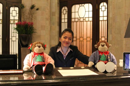 Four Seasons Hotel Gresham Palace: Shirley with Monkeys at the Palace!!!