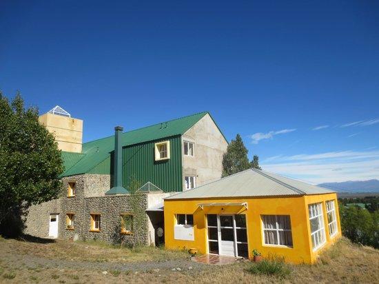 Hostel International Point:                   Gold room is breakfast n dining.  Green is the hostel.