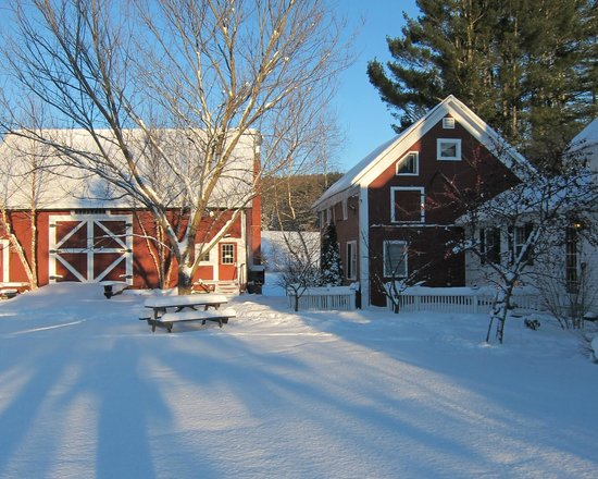 1824 House Inn: The barn on a sunny winter day