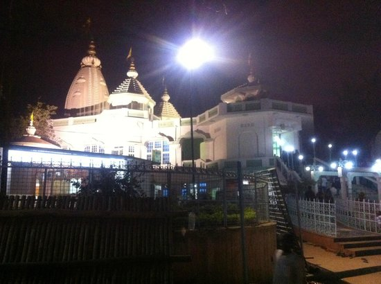 ISKCON Temple: front view in night