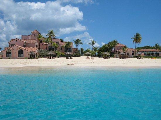 Frangipani Beach Resort:                   Frangipani pic taken from a boat