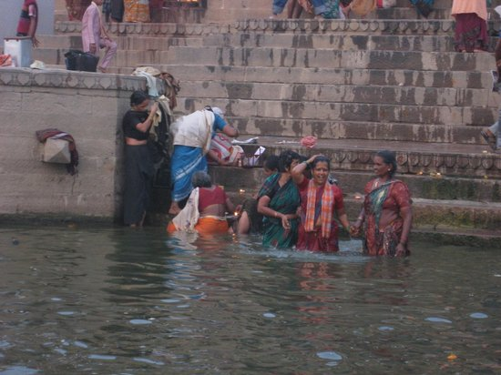 Palace on Ganges: Bathing in Ganges