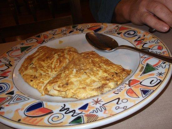 La Sidreria: tortilla de bacalao