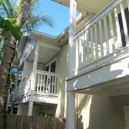 The Inn at Key West:                   View of the room with balcony from the garden