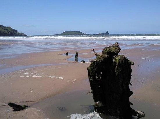Langland Road B&B:                   Rossili Beach and Worms Head
