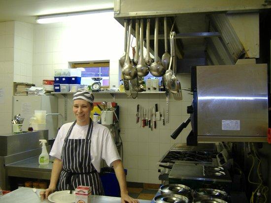 Eilean Dubh Restaurant:                   Ann Law in her kitchen at the Eilean Dubh