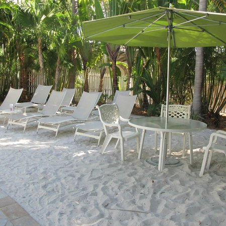 The Inn at Key West:                   Sand beach area at the pool