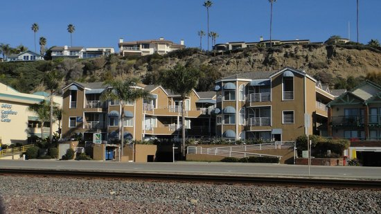 Quality Inn & Suites Oceanview:                   View from the beach across the street