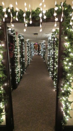 The Embassy Theatre: During the festival of trees, hallway leading to old Indiana Hotel Lobby which is part of the th