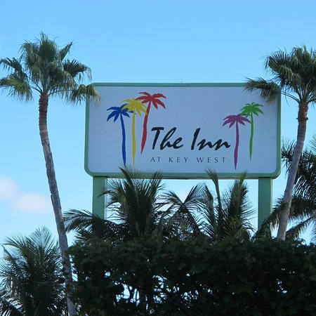 The Inn at Key West:                   Sign of the Hotel next to the street