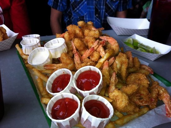 Dirty Al's :                   Shrimp Botana Platter