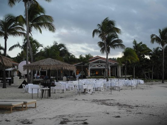 Jumby Bay, A Rosewood Resort: white night on Sunday nights. Fun