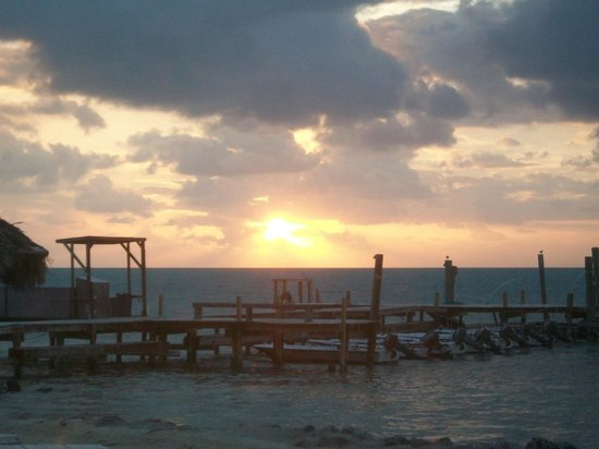 Rainbow Bend Fishing Resort:                   Beach view- sunrise