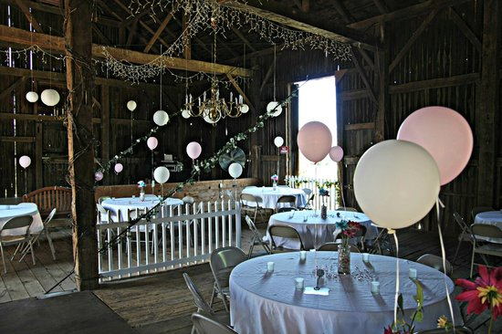 Springdale Farm:                   Barn for reception