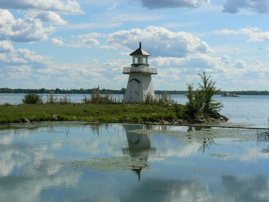 The Lighthouse on St. Lawrance river (view from Upper Canada Village)