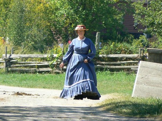 Upper Canada Village: the lady in the old fashioned dress