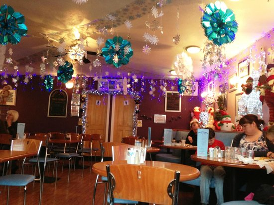 Cafe 91: 'Santas Grotto' viewed from my table