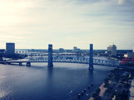Hyatt Regency Jacksonville Riverfront:                   River view from our room on the 11th floor