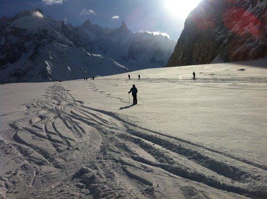 Vallee Blanche:                   Gletscher ohne Ende