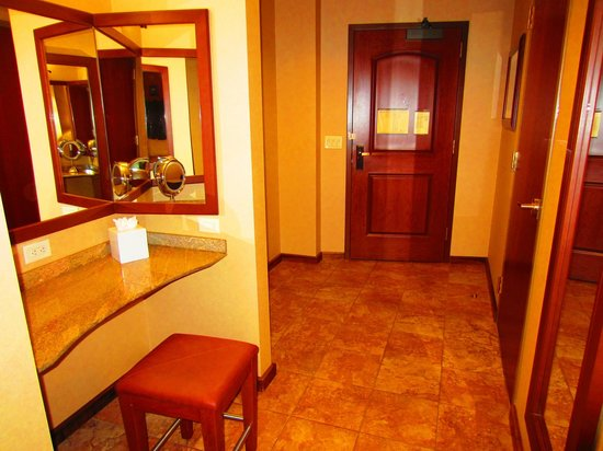 Seneca Allegany Resort & Casino:                   Rooms entranance area