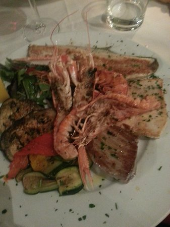 Antica Trattoria Rosso Di Brera : Seafood selection, all excellent although the Sea bass was outstanding.
