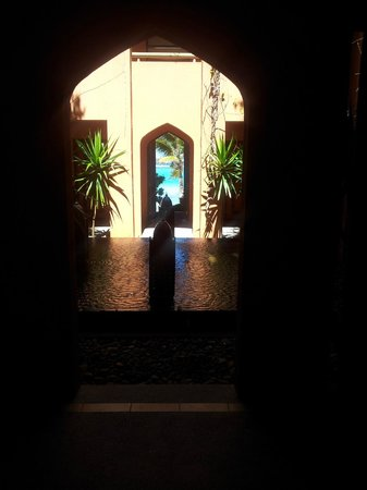 La Palmeraie Hotel:                   On route to the spa