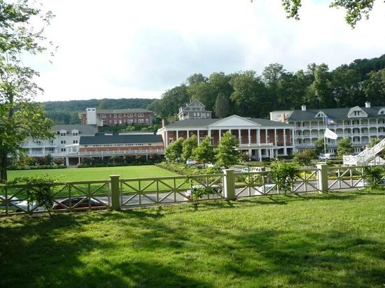 Omni Bedford Springs Resort:                   From the grotto...