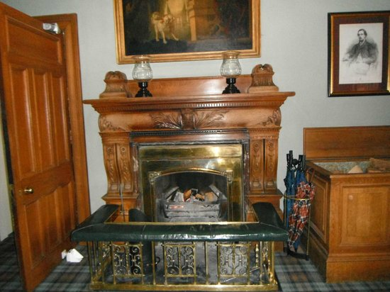 Roxburghe Hotel & Golf Course:                   Log fire in the entrance hall,lovely