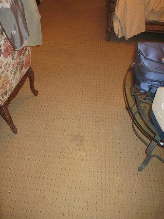 Oheka Castle: Stains on Carpet