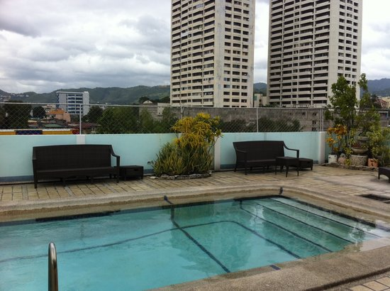 The Cebu Grand Hotel:                   Roof deck pool. Dont expect too much.