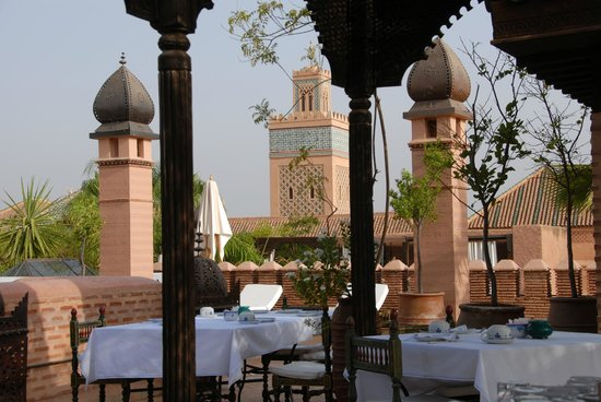 La Sultana Marrakech:                   view from rooftop terrace