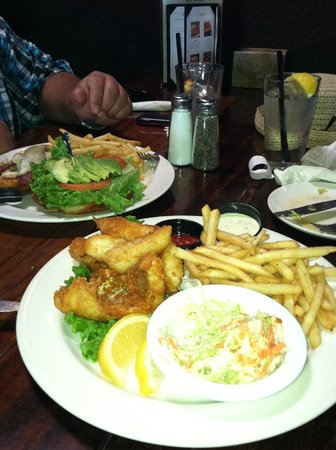 Custom House:                   Fish and Chips and the Turkey burger....was awesome